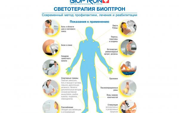 Светотерапия БИОПТРОН